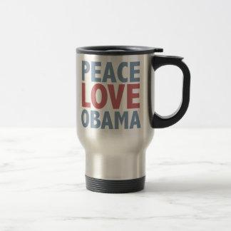 Camisetas y regalos de Obama del amor de la paz Taza De Viaje