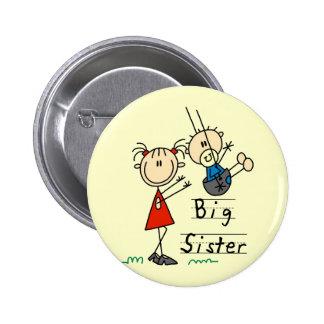 Camisetas y regalos de pequeño Brother de la herma Pin Redondo De 2 Pulgadas
