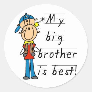 Camisetas y regalos de pequeño Brother Pegatina Redonda