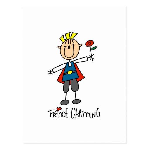 Camisetas y regalos de príncipe el encantar tarjeta postal