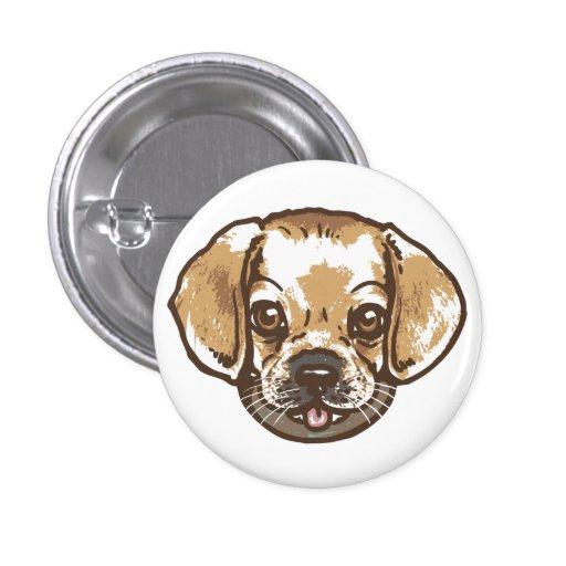 Camisetas y regalos de Puggle del Snuggle Pin Redondo 2,5 Cm