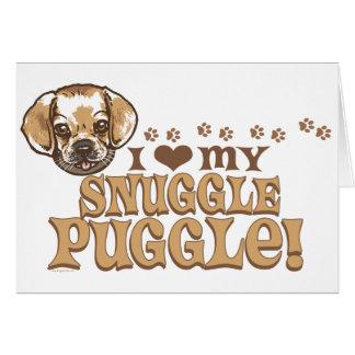 Camisetas y regalos de Puggle del Snuggle Tarjeta De Felicitación