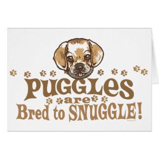 Camisetas y regalos de Puggle del Snuggle Tarjetón