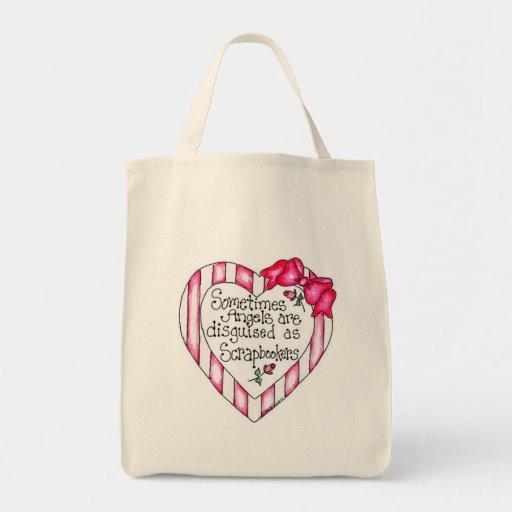 Camisetas y regalos de Scrapbooker del corazón del Bolsa Tela Para La Compra
