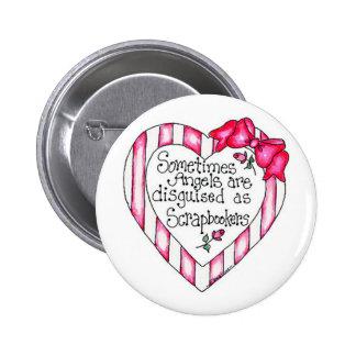 Camisetas y regalos de Scrapbooker del corazón del Pin