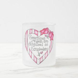 Camisetas y regalos de Scrapbooker del corazón del Taza Cristal Mate