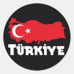 Camisetas y regalos de Turquía Etiquetas Redondas