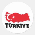 Camisetas y regalos de Turquía Pegatinas Redondas