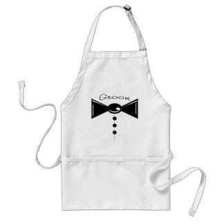 Camisetas y regalos de Tux del novio Delantal