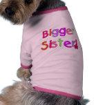 Camisetas y regalos de una hermana más grande ropa de perros