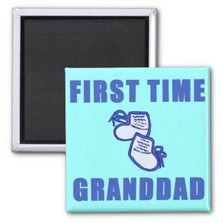 Camisetas y regalos del abuelo de la primera vez imán cuadrado