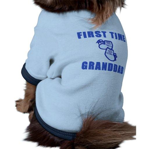 Camisetas y regalos del abuelo de la primera vez camisetas de perrito