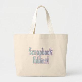 Camisetas y regalos del adicto al libro de recuerd bolsa tela grande