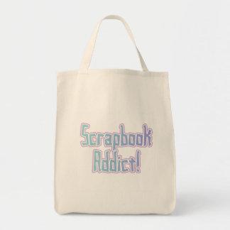 Camisetas y regalos del adicto al libro de recuerd bolsa tela para la compra
