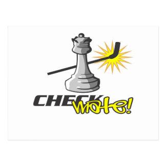 Camisetas y regalos del ajedrez tarjetas postales