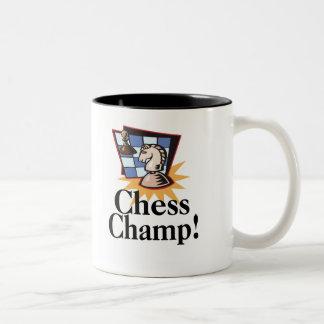 Camisetas y regalos del ajedrez taza dos tonos