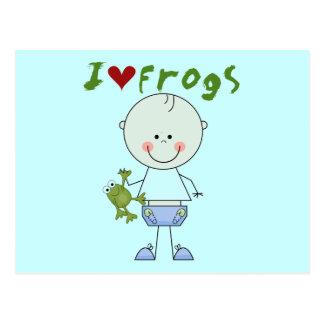 Camisetas y regalos del amante de la rana postales