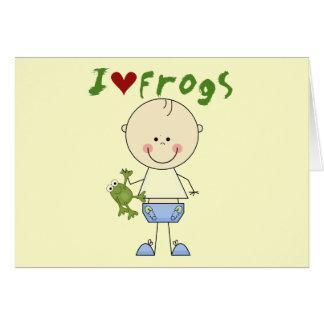 Camisetas y regalos del amante de la rana tarjeta de felicitación