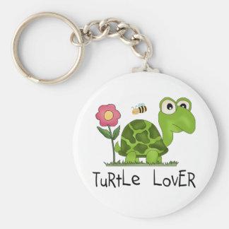 Camisetas y regalos del amante de la tortuga llavero redondo tipo pin