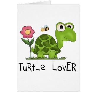 Camisetas y regalos del amante de la tortuga tarjeta de felicitación