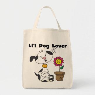 Camisetas y regalos del amante del perro de bolsa tela para la compra