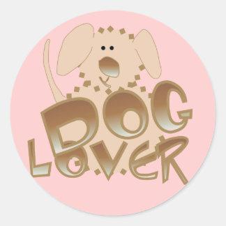 Camisetas y regalos del amante del perro de Brown Pegatina Redonda