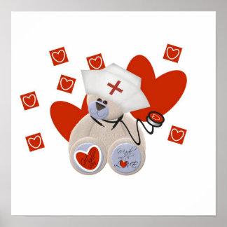 Camisetas y regalos del amor de la enfermera del o impresiones