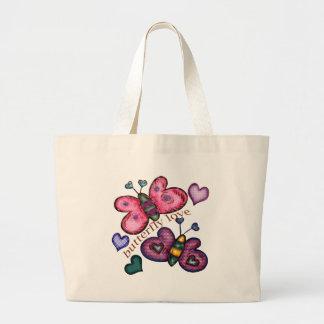 Camisetas y regalos del amor de la mariposa para e bolsa lienzo