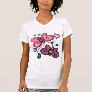 Camisetas y regalos del amor de la mariposa para poleras