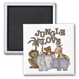 Camisetas y regalos del amor de la selva imán de frigorífico