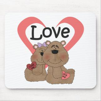 Camisetas y regalos del amor de los osos de peluch alfombrillas de ratón