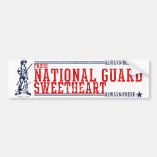 Camisetas y regalos del amor del Guardia Nacional Etiqueta De Parachoque