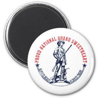 Camisetas y regalos del amor del Guardia Nacional Imán Redondo 5 Cm