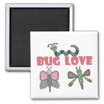 Camisetas y regalos del amor del insecto iman para frigorífico