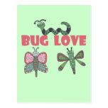 Camisetas y regalos del amor del insecto postales