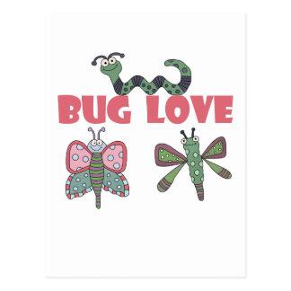 Camisetas y regalos del amor del insecto tarjeta postal