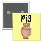 Camisetas y regalos del animal del campo de cerdo pins