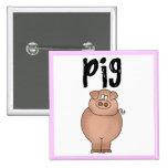 Camisetas y regalos del animal del campo de cerdo pin