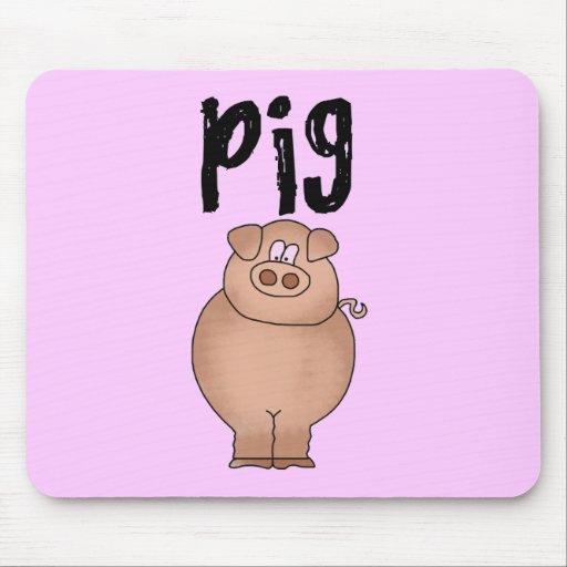 Camisetas y regalos del animal del campo de cerdo alfombrillas de ratones
