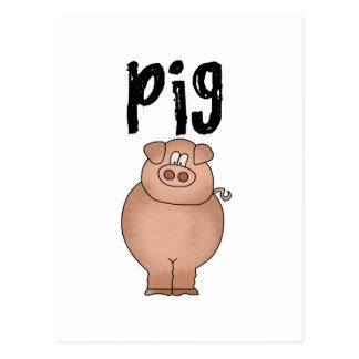 Camisetas y regalos del animal del campo de cerdo tarjetas postales