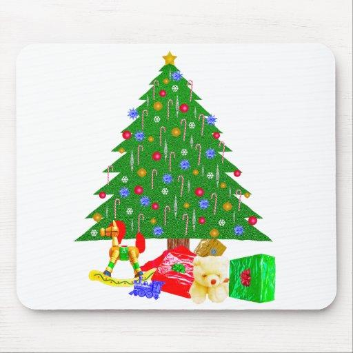 Camisetas y regalos del árbol de navidad tapete de ratones