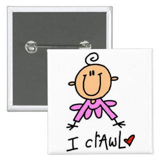 Camisetas y regalos del arrastre de la niña I Pin Cuadrada 5 Cm