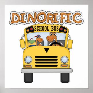 Camisetas y regalos del autobús escolar de Dinorif Póster
