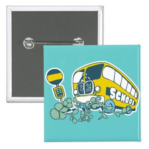 Camisetas y regalos del autobús escolar pin