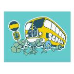 Camisetas y regalos del autobús escolar postal