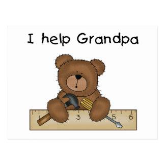 Camisetas y regalos del ayudante del abuelo del tarjetas postales
