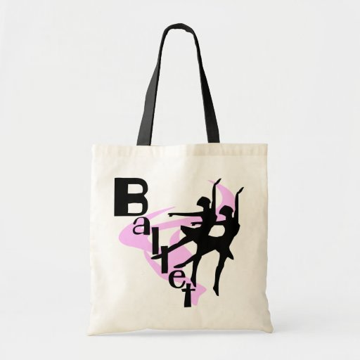 Camisetas y regalos del ballet de la silueta bolsas