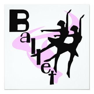 Camisetas y regalos del ballet de la silueta anuncios personalizados