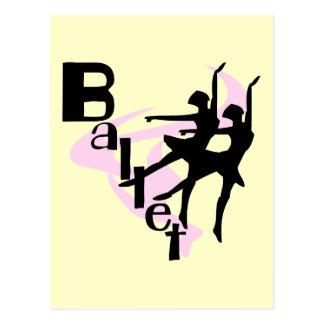 Camisetas y regalos del ballet de la silueta postal