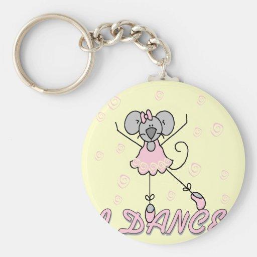 Camisetas y regalos del ballet del ratón llaveros